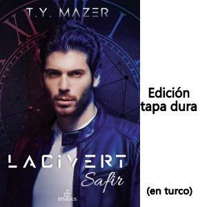 Libro Lacivert Safir Can Yaman en turco del autor T.Y. Mazer, edición tapa dura