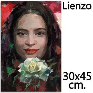 Lienzo Rosalía, poster para la sala de estar o dormitorio