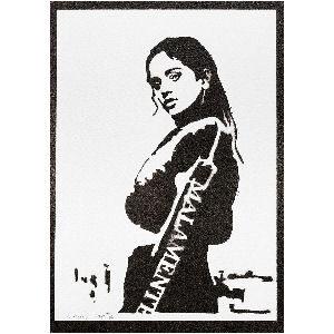 Poster de Rosalía hecho a mano