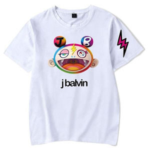 Camiseta J Balvin cara con colores