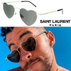 Gafas Bad Bunny Saint Laurent corazones