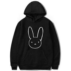 Sudadera Bad Bunny negra con logo del conejo